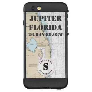 Funda NÜÜD De LifeProof Para iPhone 6 Plus Monograma náutico Júpiter la Florida de la carta