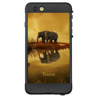Funda NÜÜD De LifeProof Para iPhone 6 Plus Puesta del sol de los elefantes