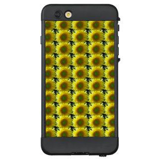 Funda NÜÜD De LifeProof Para iPhone 6 Plus Repetición de los girasoles