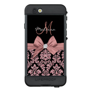 Funda NÜÜD De LifeProof Para iPhone 6s Damasco color de rosa del negro del purpurina del