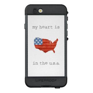 Funda NÜÜD De LifeProof Para iPhone 6s El   americana mi corazón está en el mapa de los