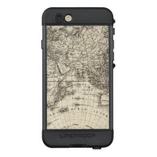 Funda NÜÜD De LifeProof Para iPhone 6s Mapa del vintage de Europa y de Asia