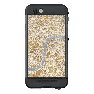Funda NÜÜD De LifeProof Para iPhone 6s Mapa dorado de la ciudad de Londres