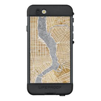 Funda NÜÜD De LifeProof Para iPhone 6s Mapa dorado de la ciudad de Nueva York