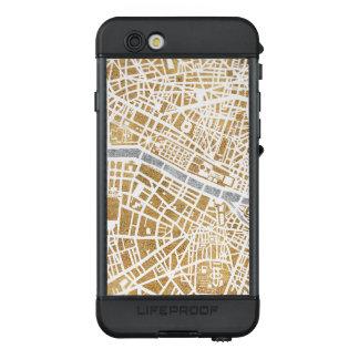 Funda NÜÜD De LifeProof Para iPhone 6s Mapa dorado de la ciudad de París