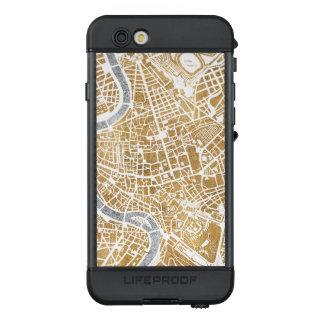 Funda NÜÜD De LifeProof Para iPhone 6s Mapa dorado de la ciudad de Roma