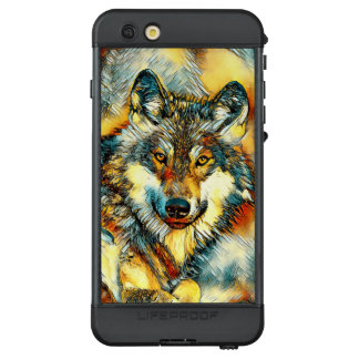 Funda NÜÜD De LifeProof Para iPhone 6s Plus AnimalArt_Wolf_20170601_by_JAMColors
