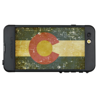 Funda NÜÜD De LifeProof Para iPhone 6s Plus Bandera patriótica gastada del estado de Colorado