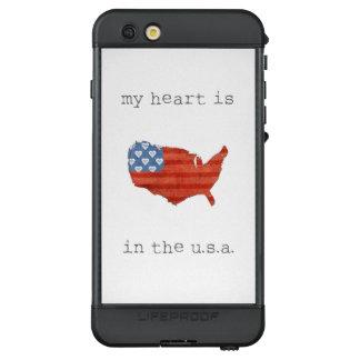 Funda NÜÜD De LifeProof Para iPhone 6s Plus El | americana mi corazón está en el mapa de los