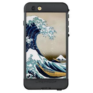Funda NÜÜD De LifeProof Para iPhone 6s Plus Gran onda restaurada de Kanagawa por Hokusai