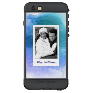 Funda NÜÜD De LifeProof Para iPhone 6s Plus La acuarela abstracta azul el | añade la foto
