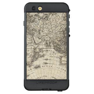 Funda NÜÜD De LifeProof Para iPhone 6s Plus Mapa del vintage de Europa y de Asia