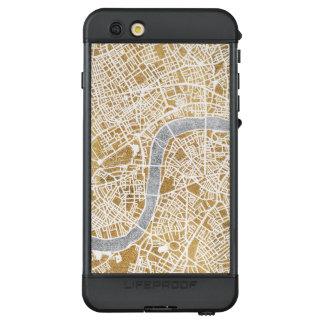 Funda NÜÜD De LifeProof Para iPhone 6s Plus Mapa dorado de la ciudad de Londres