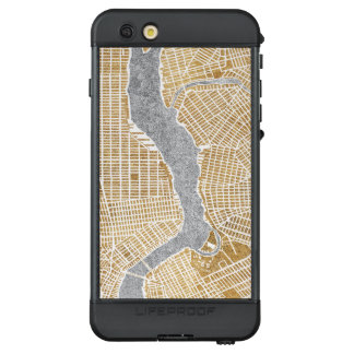 Funda NÜÜD De LifeProof Para iPhone 6s Plus Mapa dorado de la ciudad de Nueva York