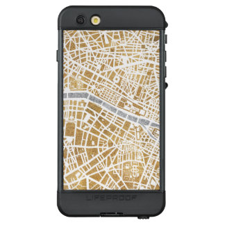 Funda NÜÜD De LifeProof Para iPhone 6s Plus Mapa dorado de la ciudad de París