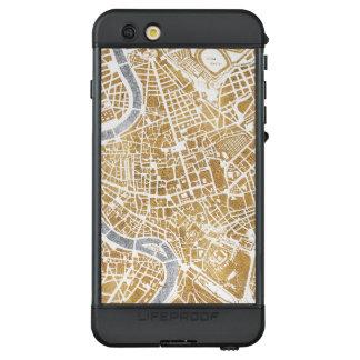 Funda NÜÜD De LifeProof Para iPhone 6s Plus Mapa dorado de la ciudad de Roma
