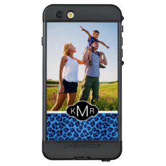 Funda NÜÜD De LifeProof Para iPhone 6s Plus Textura azul del leopardo del monograma el |