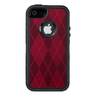 Funda OtterBox Defender Para iPhone 5 Argyle rojo