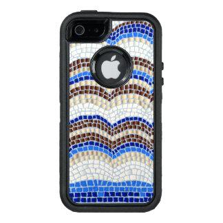Funda OtterBox Defender Para iPhone 5 Caja azul del iPhone SE/5/5s de Apple del mosaico