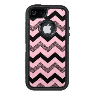Funda OtterBox Defender Para iPhone 5 Caso rosado del iPhone SE/5/5s Otterbox de Chevron