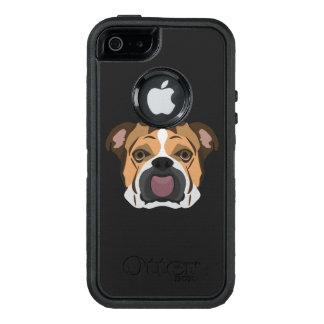 Funda OtterBox Defender Para iPhone 5 Dogo del inglés del ilustracion