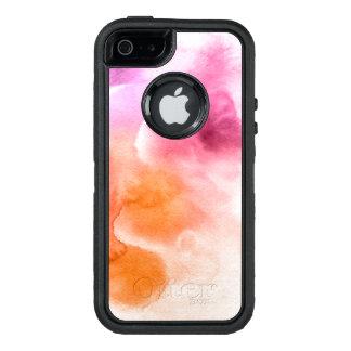 Funda OtterBox Defender Para iPhone 5 Fondo pintado a mano 3 2 de la acuarela abstracta