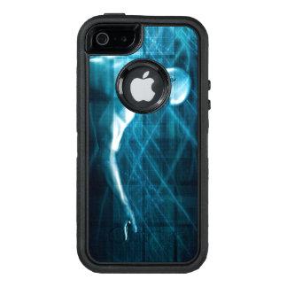 Funda OtterBox Defender Para iPhone 5 Hombre que presenta un concepto como fondo de la