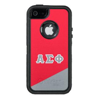 Funda OtterBox Defender Para iPhone 5 Letras alfa del Griego de la phi el | de la sigma