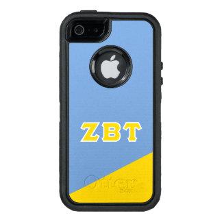 Funda OtterBox Defender Para iPhone 5 Letras beta del Griego del Tau el   de la zeta