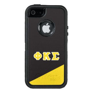 Funda OtterBox Defender Para iPhone 5 Letras del Griego de la sigma el   de Kappa de la