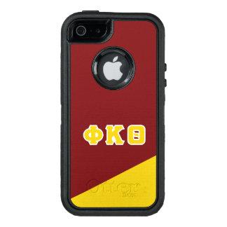 Funda OtterBox Defender Para iPhone 5 Letras del Griego de la theta el   de Kappa de la