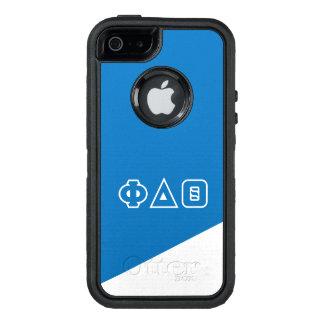 Funda OtterBox Defender Para iPhone 5 Letras del Griego de la theta el | del delta de la