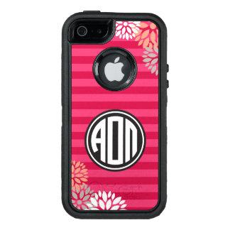 Funda OtterBox Defender Para iPhone 5 Modelo alfa de la raya del monograma de Omicron pi