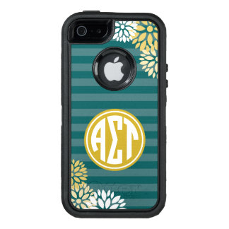 Funda OtterBox Defender Para iPhone 5 Modelo alfa de la raya del monograma del Tau el |