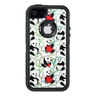 Funda OtterBox Defender Para iPhone 5 modelo con las pandas preciosas con los corazones