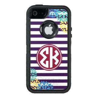 Funda OtterBox Defender Para iPhone 5 Modelo de la raya del monograma de Kappa el   de
