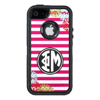 Funda OtterBox Defender Para iPhone 5 Modelo de la raya del monograma de MU el | de la