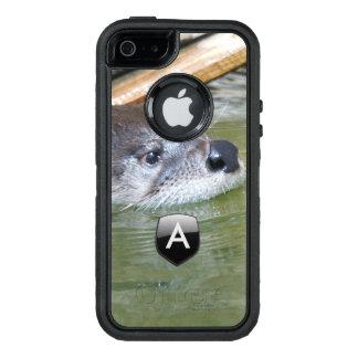 Funda OtterBox Defender Para iPhone 5 Nutria de río con monograma