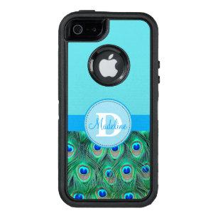 Funda OtterBox Defender Para iPhone 5 Pavo real y caja con monograma azul de Otterbox