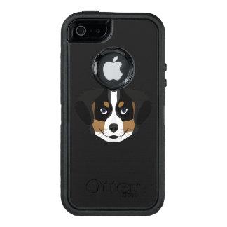 Funda OtterBox Defender Para iPhone 5 Perro de montaña de Bernese del ilustracion