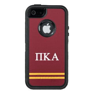 Funda OtterBox Defender Para iPhone 5 Raya del deporte de la alfa el | del pi Kappa