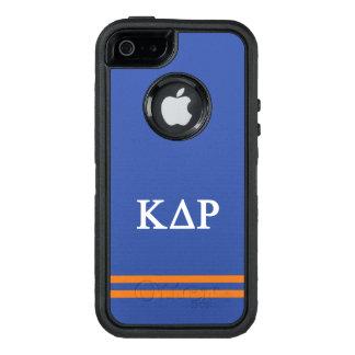 Funda OtterBox Defender Para iPhone 5 Raya del deporte de rho el | del delta de Kappa