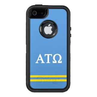 Funda OtterBox Defender Para iPhone 5 Raya del deporte del Tau Omega el | de la alfa