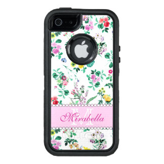 Funda OtterBox Defender Para iPhone 5 Wildflowers y rosas amarillos rojos púrpuras