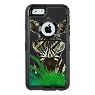 Funda OtterBox Defender Para iPhone 6 Animal del estilo de la cebra del inconformista