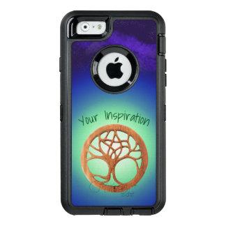 Funda OtterBox Defender Para iPhone 6 Árbol del druida bajo texto del personalizable del
