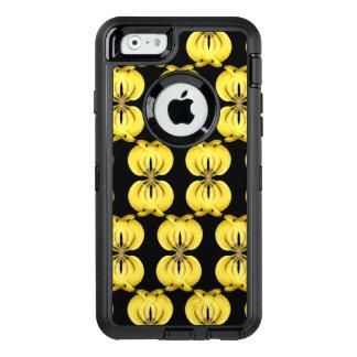 Funda OtterBox Defender Para iPhone 6 Arte tropical amarillo de oro de la comida del