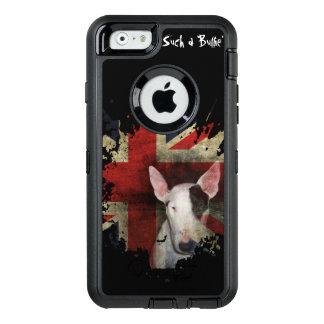 Funda OtterBox Defender Para iPhone 6 Bull terrier negro Union Jack