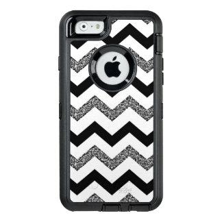 Funda OtterBox Defender Para iPhone 6 Caja blanca del iPhone 6/6s de Chevron del brillo