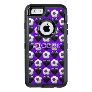 Funda OtterBox Defender Para iPhone 6 Caja púrpura del iPhone 6/6s Otterbox del fútbol